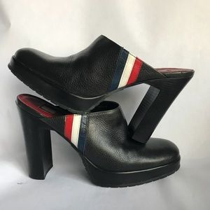 TOMMY HILFIGER• Vintage Leather Mule• Size 8